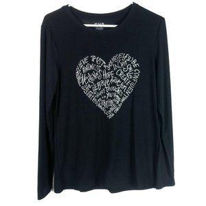 EV1 Ellen Degeneres Long Sleeve T Shirt Heart Word